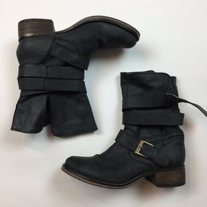 Steve Madden Brewzzer Womens Boots 8 Black Leather